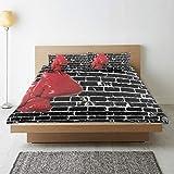 MANISENG Bettwäsche-Set,Mikrofaser,Rote Boxhandschuhe altes schwarzes...