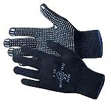 Jah 5030 Baumwolle/Polyester Strickhandschuh 12 Paar Noppen mittelschwer,blau, Gr. 7
