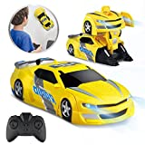 Baztoy Ferngesteuertes Auto Kinder Spielzeug Transform Roboter RC Car Junge Mädchen Doppelmodi 360...