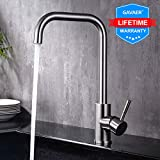 GAVAER Küchenarmatur, 360 ° Drehbare Wasserhahn Küche aus Edelstahl, Für Einzel- und...