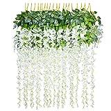 YQing Kunstblumen, künstliche Glyzinien, Heimdekoration, jeder Strang ist 110 cm lang, aus Seide,...