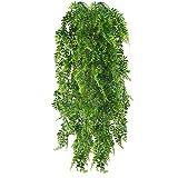 HUAESIN 2pcs Künstliche Hängepflanzen Lang Persischer Farn Kunstpflanze Hängend Plastikpflanzen...