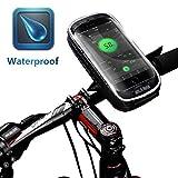 HJJGRASS Smartphone Halterung Fahrrad Fahrradtasche Regenfest 5,7 Zoll Telefon Fall Touchscreen MTB...