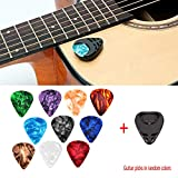 Beesclover Gitarrenplektren und Plektrumhalter für Akustikgitarre, E-Gitarre, Bass, Ukulele, zum...
