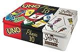 Mattel Games FFK01 - Kartenspiele Spielesammlung in Metalldose mit UNO, Phase 10, Snappy Dressers,...
