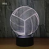 Fußball Nachtlicht kreative elektronische Geschenk Acryl Licht Stecker Nachtlicht