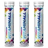 3x ALLNUTRITION Vitaminall Vitamins & Minerals | 20 Brausetabletten je Packung (insg. 60 Stück) | Multivitamin Mineralstoffe Magnesium Vitamin C E D B 6 B12 Eisen Zink (3er Vorteilspack)