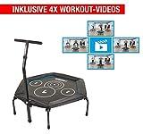 Hammer Fitness-Trampolin Cross Jump inklusive 4 Workout-Videos!, 98 cm Sprungfläche, leistungsstark...