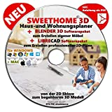 Sweet Home 3D® Version 6.0 'SWEET HOME 3D' NEU Haus-und Wohnungsplaner 3D Software Premium PLUS=...