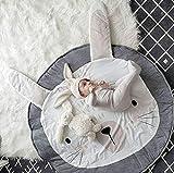 HIL Babyspielmatte, Gymnastikmatte Babydecke Baumwolle, Playmat Activity Gym Bodenmatte Für...