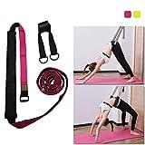MQSS Yogaband mit Schlaufe Fitnessbänder für Beine Taille Dehnungsband Ballett Beinspreizer Band...