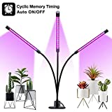 LED Grow Light Mit Auto Power on/Off Funktion, 60 LED Vollspektrum Grow Lamp Pflanzenlicht Timer...