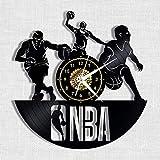 Menddy NBA Basketball Schallplatte Wanduhr Led Leucht Gedenken Handgefertigte Kunst Schlafzimmer...