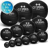 Medizinball Leder Schwarz K5, Gewichtsball, Original Medizinbälle, Crossfit Ball, Gymnastikball -...