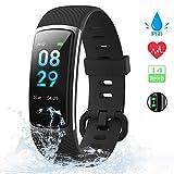 【Neuestes Modell】 Fitness Armband, KUNGIX Schrittzähler Uhr IP68 Wasserdicht Smartwatch Fitness...