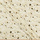 Quilt Gate 0659070 1000 Tsuru II Metallic Cream Fabric Stoff, Textil, cremefarben, By The Yard