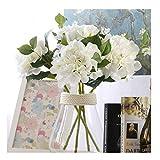 Famibay Seidenblumen Hortensie Künstlich Weiß 3 Stück Seide Gefälschte Blume Hortensie...