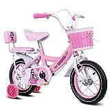 WQEYMX WQE Kinderfahrrad Prinzessin Studenten Fahrrad Pedale Swan Rosa 12/14/16 Zoll mit...