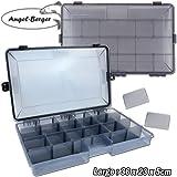 Angel-Berger Pro Tackle Box Zubehörbox Köderbox wasserdicht (Medium)