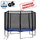 Baunsal GmbH & Co.KG Gartentrampolin Trampolin 305 bis 310 cm in blau mit Sicherheitsnetz und Einstiegsleiter