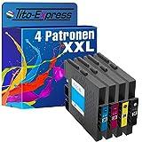 Tito-Express PlatinumSerie 4 Gel-Patronen XXL mit Chip kompatibel mit Ricoh GC-31 Ricoh Aficio GX e...