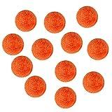 Toygogo Tischfußball Bälle Foosball Bälle Orange 36mm, 12er Set