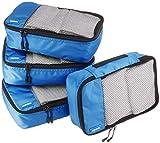 AmazonBasics Kleine Kleidertaschen, 4 Stück, Blau