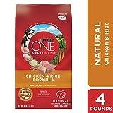 PURINA ONE Natürliches Trockenfutter für Hunde, Huhn und Reis, 4 lb. Taschen
