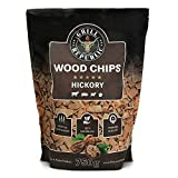 Premium Hickory Räucherchips für optimales Raucharoma beim Grillen | 100% Natürliches Smoker-Holz...