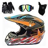 LEAPA Standard Kinder Quad Bike ATV Go-Kart-Helm Motocross Helm Crosshelm Motorrad Enduro Downhill...