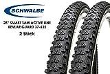2 Stück 28' Zoll SCHWALBE Smart Sam Fahrrad Reifen 28x.1.4 Kevlar Guard 37-622