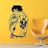 fdgdfgd Cartoon Vinyl Wandtattoo Design Aufkleber Dekoration Anime Piratenkönig hübscher Charakter...