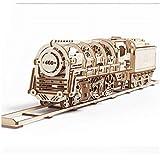 QKKJ 3D Dampfzugpuzzle Aus Holz, 643 Teile