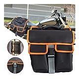 WeiCYN Motorrad-Fahrrad-Satteltasche Rear Seat Rucksack Abnehmbarer Rücksitz Satteltasche (Color :...