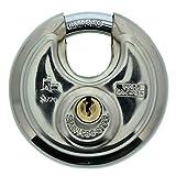 BURG-WÄCHTER Rundbügelschloss Circle 21 70 SB (Verchromter Edelstahl, 9 mm Bügelstärke) silber