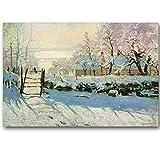 WSWWYClaudio Monet Original Landschaftsölgemälde Rahmenloses Leinwandgemälde Meisterwerk (Druck)...
