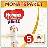 Huggies Windeln Ultra Comfort Pants Größe 5 Monatsbox, 1er Pack (1 x 68 Stück) 2 x 34 Stück