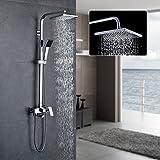 Auralum Duschset Duschkopf-Mischbatterie 3-Funktion Duschsystem mit Brause Wasserhahn Duschköpfe...