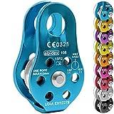 ALPIDEX Seilrolle Umlenkrolle 22 kN - für Seile bis 13 mm Durchmesser - EN12278, Farbe:blau