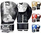 VELO. Boxhandschuhe MMA Bag Training Sparring Punch Muay Thai Leder Flex Pro Mitts Punching KickHand...