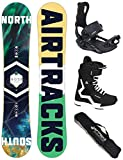 Airtracks Snowboard Set - Board North South 159 - Softbindung Master - Softboots Savage Black 44 -...