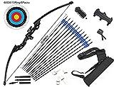 dostyle Recurve Bogen Takedown Bogenschießen Pfeil und Bogen Set Jagd Langbogen Kit 40 lbs Right...
