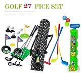 Golf Pro. Spielzeugspielset Golfer Übungsset mit Wagen für Kinder von 1 bis 6 Jahren, farbiges Set