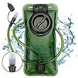 Trinkblase, Nasharia Premium BPA Frei Trinkblase 2L mit Beissventil Antibakteriell und Auslaufsicher...