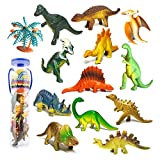 Mini Dinosaurier Figuren Set Pädagogisches Realistische Dinos Spielzeug Kunststoff Modell für...