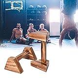 1 Paar Push Up Bars Parallettes Aus Holz Calisthenics Handstand Single Doppelte Griffe Yoga Bar...
