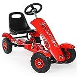 TecTake 800123 Kinder Go-Kart im Racing Design, Vor-und Rückwärtsgang, Achsen und Räder mit...