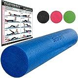ScSPORTS Pilatesrolle, Gymnastikrolle, Faszienrolle, Schaumstoff, Blau, 15 x 90 cm