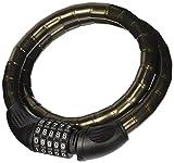 Perel SLKM03 Kabel-Vorhängeschloss mit Zahlenschloss, gepanzert, für Motorrad, 20mm Durchmesser,...