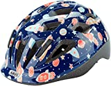 ABUS Smooty 2.0 Kinderhelm - Robuster Fahrradhelm für Kleinkinder im Beifahrersitz - für Mädchen und Jungen - 81623 - Blau mit Raktenmuster, Größe S